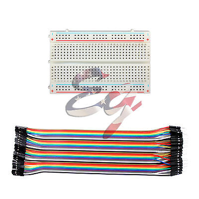 400 Tie Points Solderless PCB Mini Breadboard + Dupont Jumper cable Arduino