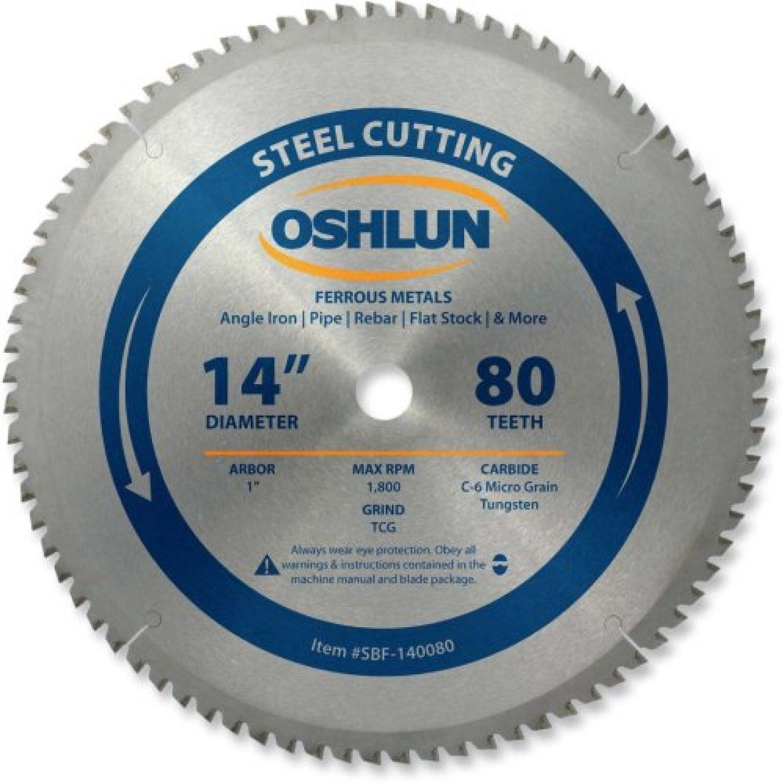 Details about Ferrous Metal Cutting Circular Saw Blade 14 Inch 80 Tooth  Pipe Mild Steel Cutter