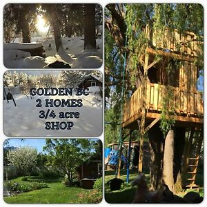 "GOLDEN BC  2  HOMES  3/4  acre SHOP "" GREAT  MORTGAGE HELPER """