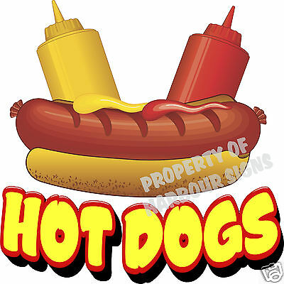 Hot Dogs Decal 8 Hotdogs Restaurant Cart Concession Trailer Food Truck Sticker