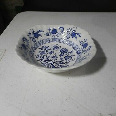 Johnson Brothers Blue Nordic Square Cereal Bowl Ironstone England