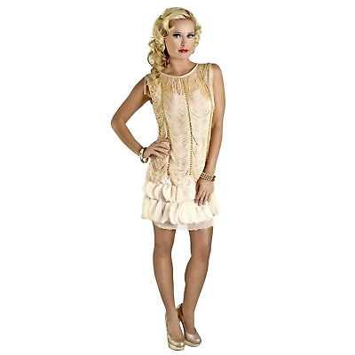 Adult Women's 1920's Vintage Style Fringed Flapper Gatsby Cosplay Costume Dress
