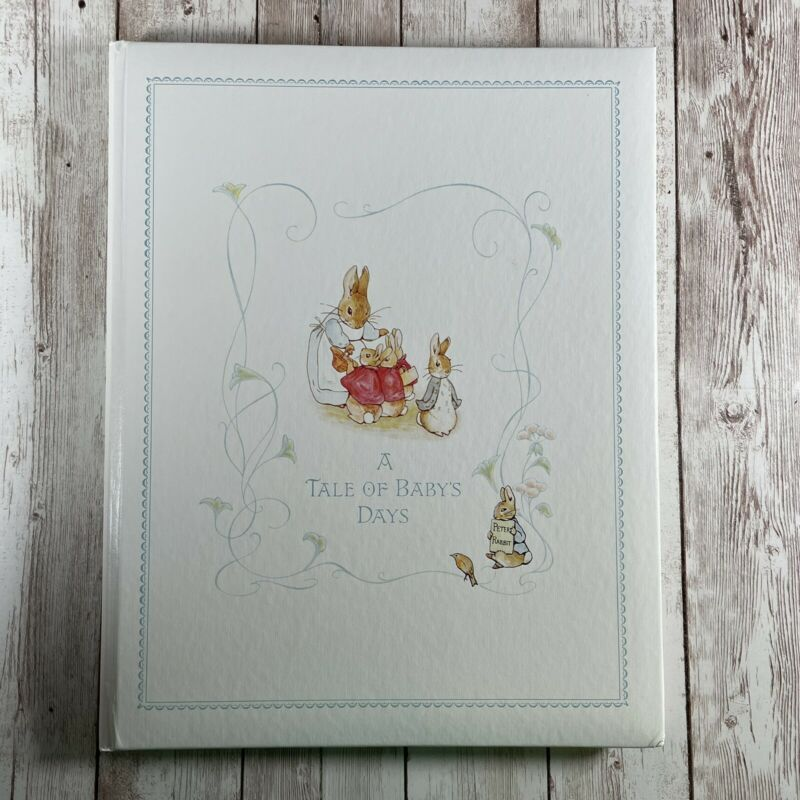 """Vtg Peter Rabbit Baby Record Book """"A Tale of Baby's Days"""" Gibson Beatrix Potter"""