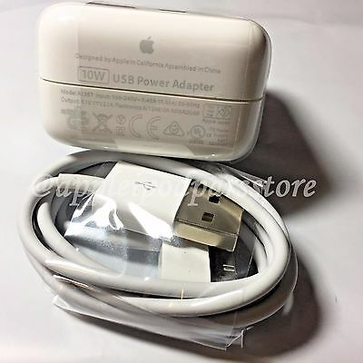 Genuine Original Apple iPad 2 Wall Charger USB power Adapter 10W Authentic US