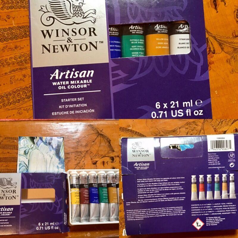 Windsor & Newton Artisan Water Mixable Oil Color Beginner Set 6 X 21ml Tubes