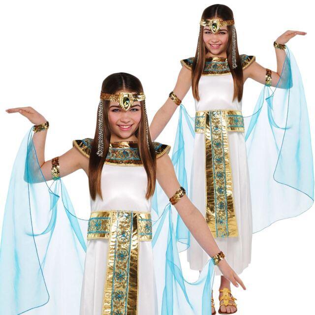 *Girls Egyptian Queen Cleopatra Greek Goddess Toga Book Day Fancy Dress Costume*