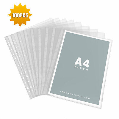 Sleeves Clear Plastic Sheet Page Protectors Document Office Paper Binder Sleeves