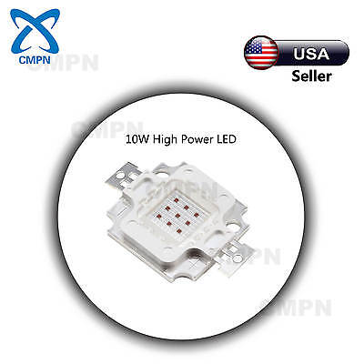 1pcs 10w High Power Led Chip Smd Deep Red 640-660nm Plant Grow Light Beads Buld