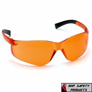PYRAMEX ZTEK SAFETY GLASS ORANGE TINT S2540S ANSI Z87.1+ COMPLIANT (1 PAIR )