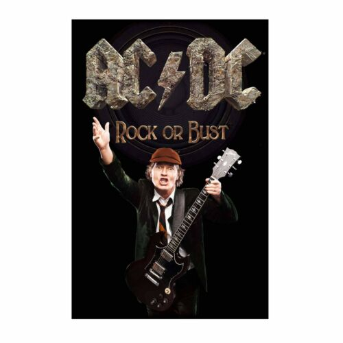 AC/DC Angus Rock Or Bust Tapestry Fabric Cloth Poster Flag Banner