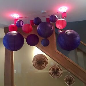 Paper Lanterns and Rosette Decorations