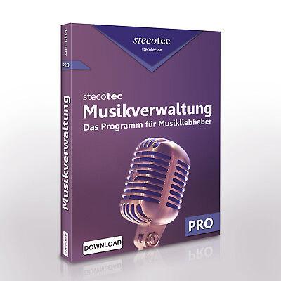 Stecotec Musikverwaltung Pro: Musiksammlung verwalten | CDs / Schallplatten