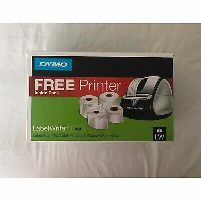 Dymo Labelwriter 450 Value Pack Label Printer And 4 Label Rolls