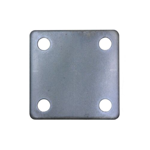 FLAT SQUARE STEEL BASE PLATES WITH 4 HOLES | 3x3 4x4 5x5 6x6 8x8 | QTY Discounts