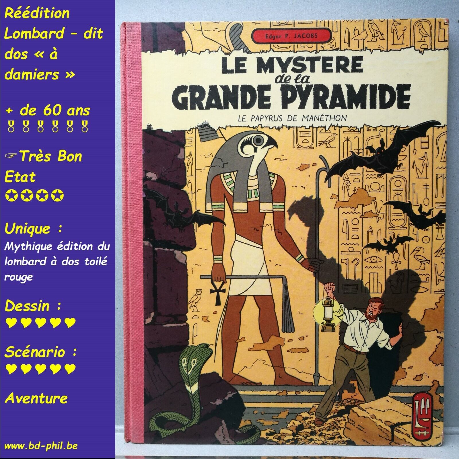 Blake et Mortimer, 3, le mystère de la grande P.. Jacobs, Lombard, R 1959 TBE