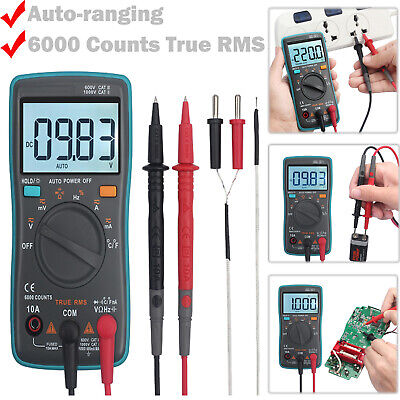 Mini 6000 Counts Trms Digital Multimeter Auto Range Acdc Voltage Testerbacklit