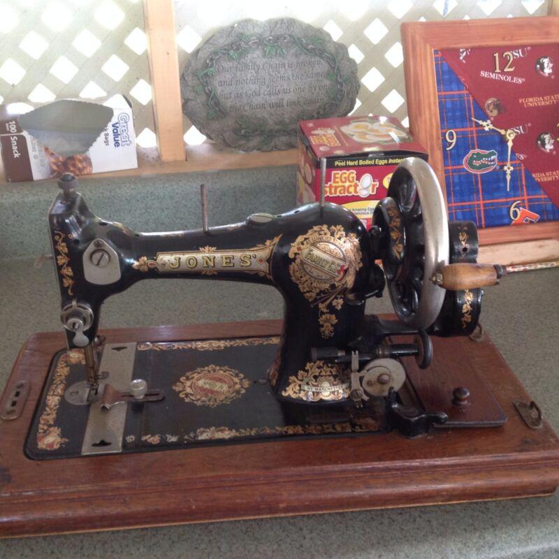 Jones (HAND CRANK) Sewing Machine (ANTIQUE) Late 1800