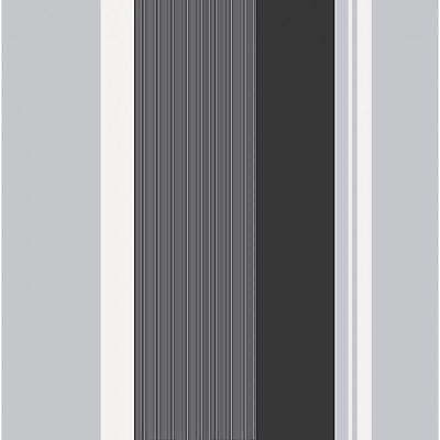 NEW Crown Millie Designer Stripe Wallpaper Charcoal-White-Silver - M0881