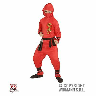 Ninja Kinder Kostüm rot