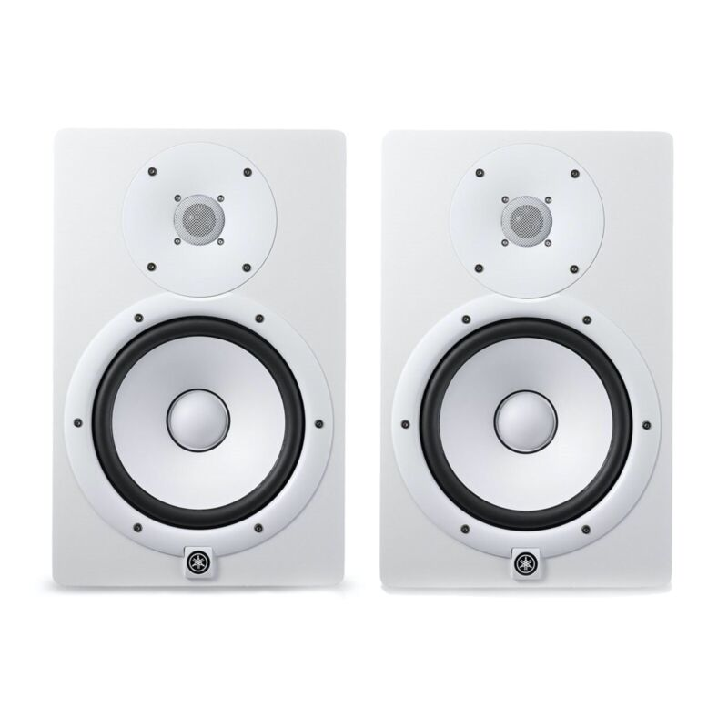 """Yamaha HS7 6.5"""" Powered Studio Monitors - White"""