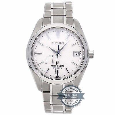 Seiko Grand Seiko Spring Drive  41mm Titanium Mens Bracelet Watch Date SBGA011