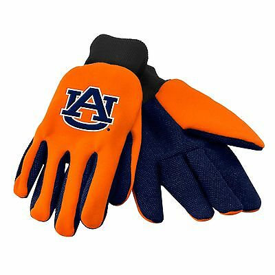 Auburn Tigers Gloves Sports Logo Utility Work Garden New Colored Palm