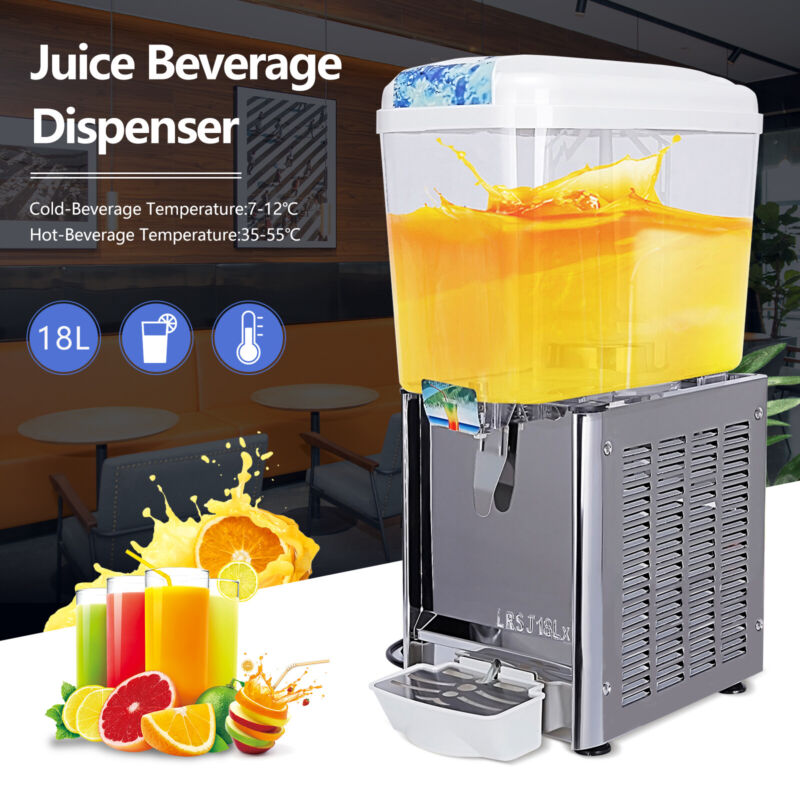 Commercial Juice Beverage Dispenser Cooling & Heating Drink Coffee Fruit Ice Tea