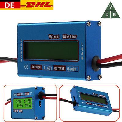 LCD Digital Batterie-Balancen Voltage Amperemeter Analyzer Watt Meter 100A/60V