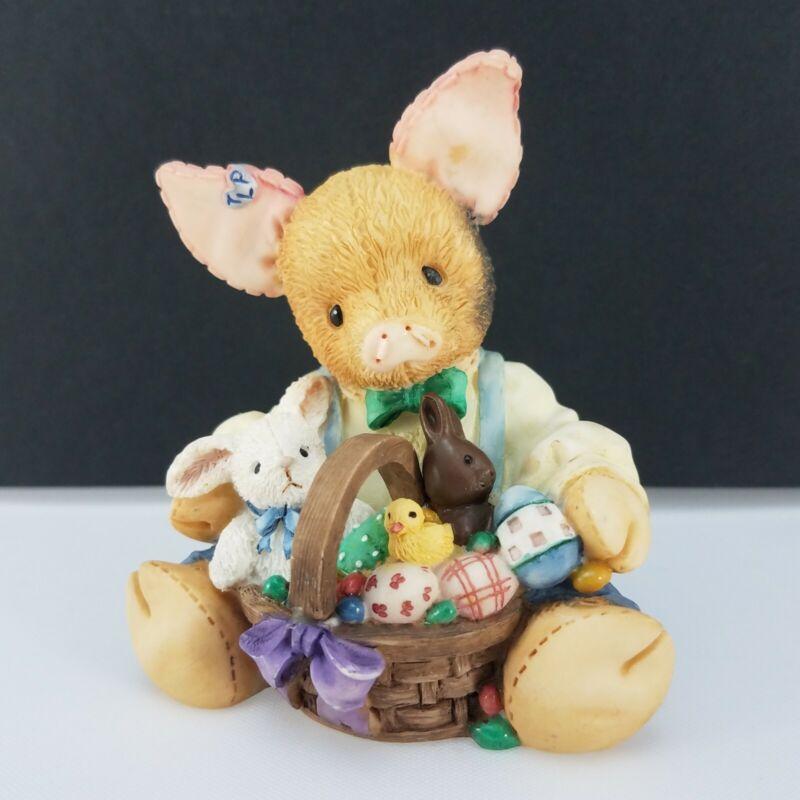 Enesco This Little Piggy Easter Sure is Su-eet! Sweet Figurine 1995