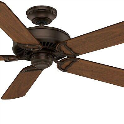 Cocoa Indoor Ceiling Fan - Hunter Fan 54 inch Traditional Brushed Cocoa Indoor Ceiling Fan