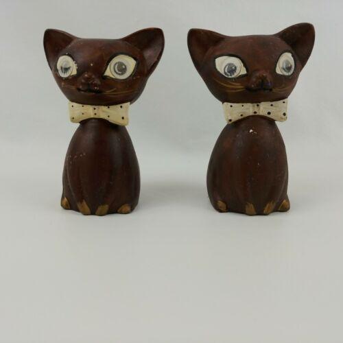Vintage Lego Siamese Cat Salt & Pepper Shakers Hologram Winking Eyes Squeaker