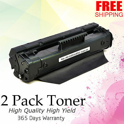 Laserjet 3200 1100 Printer - 2 Compatible C4092A 92A Toner Cartridge For HP LaserJet 1100 1100A 3200 Printer