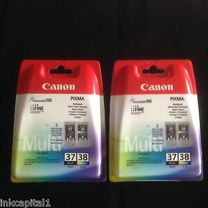 Canon-Original-OEM-Inkjet-Cartridges-2-x-PG-37-2-x-CL-38-For-MP190-MP-190