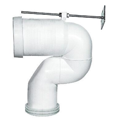 Curva tecnica per vaso traslato wc scarico a terra distanza 16 a 25cm regolabile