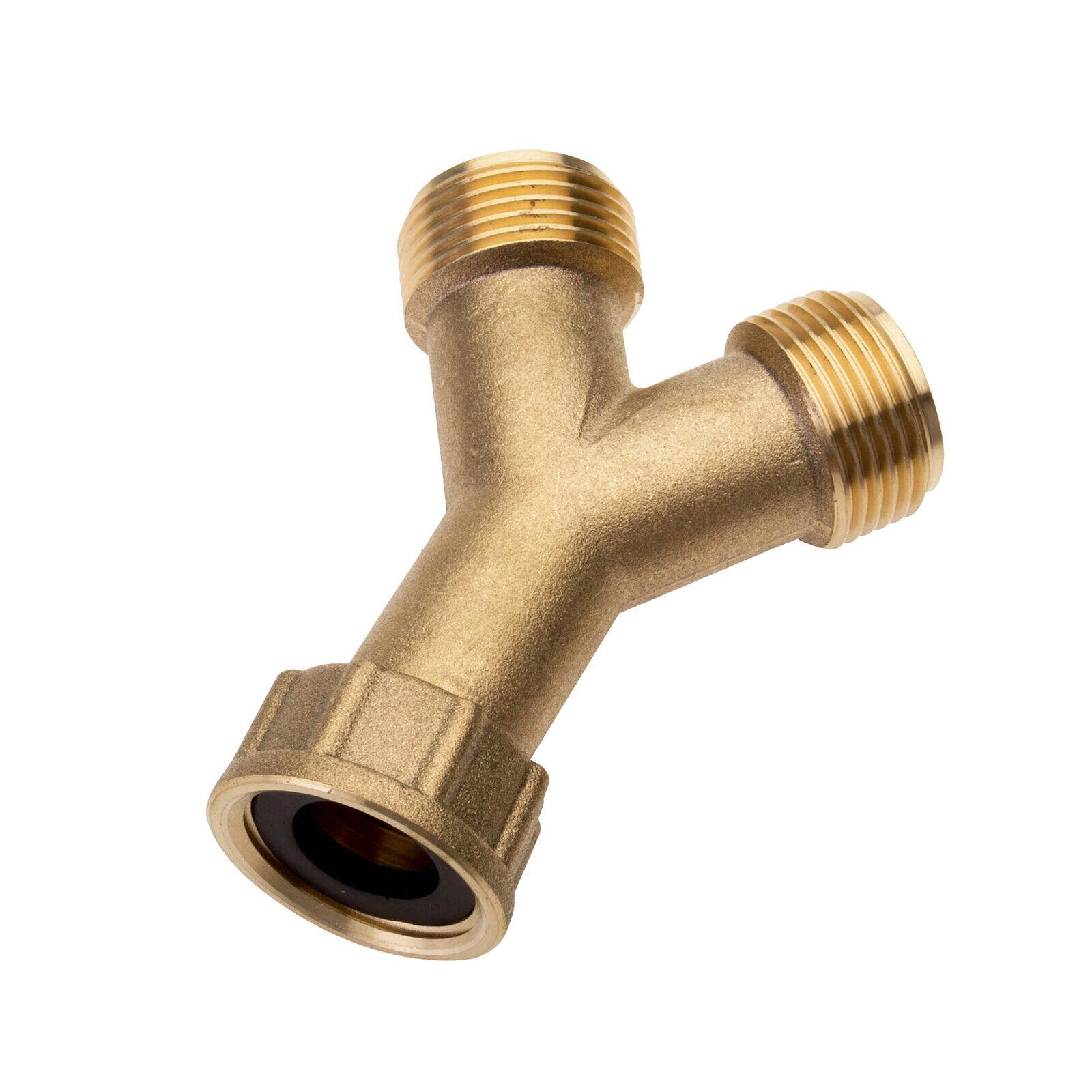 """Brass Washing Machine Hose & Tap Y Piece 3/4"""" Splitter ..."""