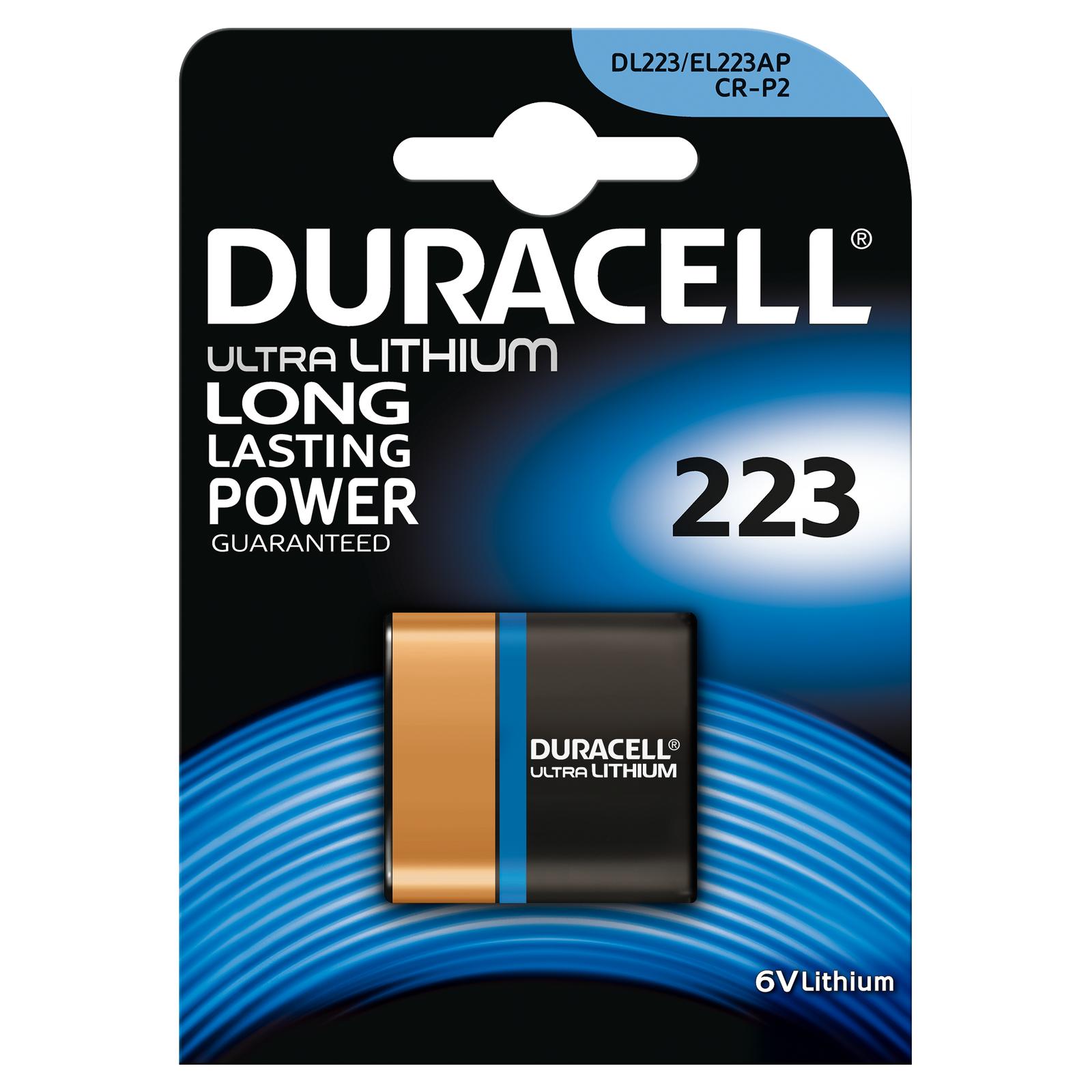 1 x Duracell Lithium Photo 223 CR-P2  1er Blister Foto 6V