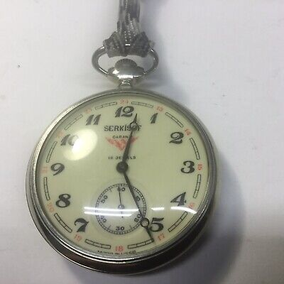 Serkisof 18 Jewels Pocket Watch