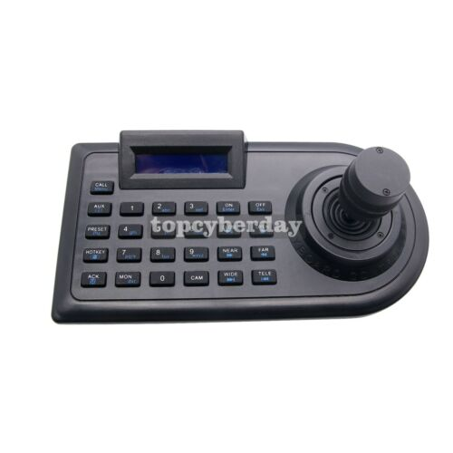 3D 3 Axis PTZ Joystick CCTV PTZ Controller Keyboard RS485 PELCO-D/P LCD Display