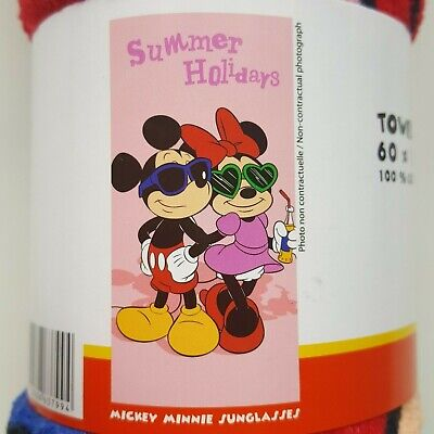 Drap de bain MINNIE & MICKEY sunglasses