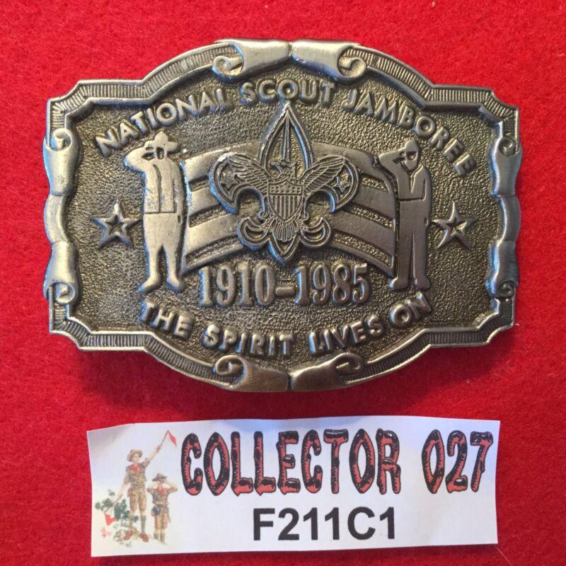 Boy Scout 1985 National Scout Jamboree Belt Buckle Texas Western