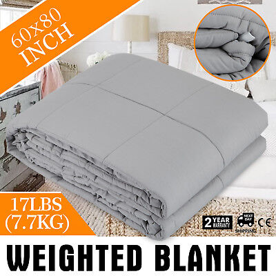 Heavy Gravity Sensory Weighted Blanket 17 lbs Better Stress cotton glass