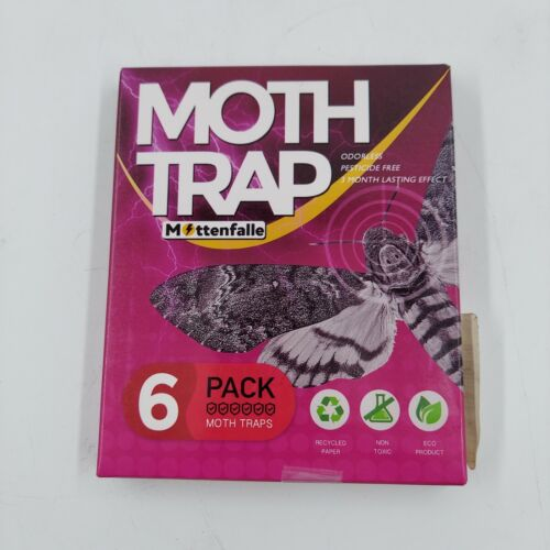 NEW Mottenfalle Clothes Moth Traps 6-Pack - Prime Safe, Non-Toxic & Eco-Friendly