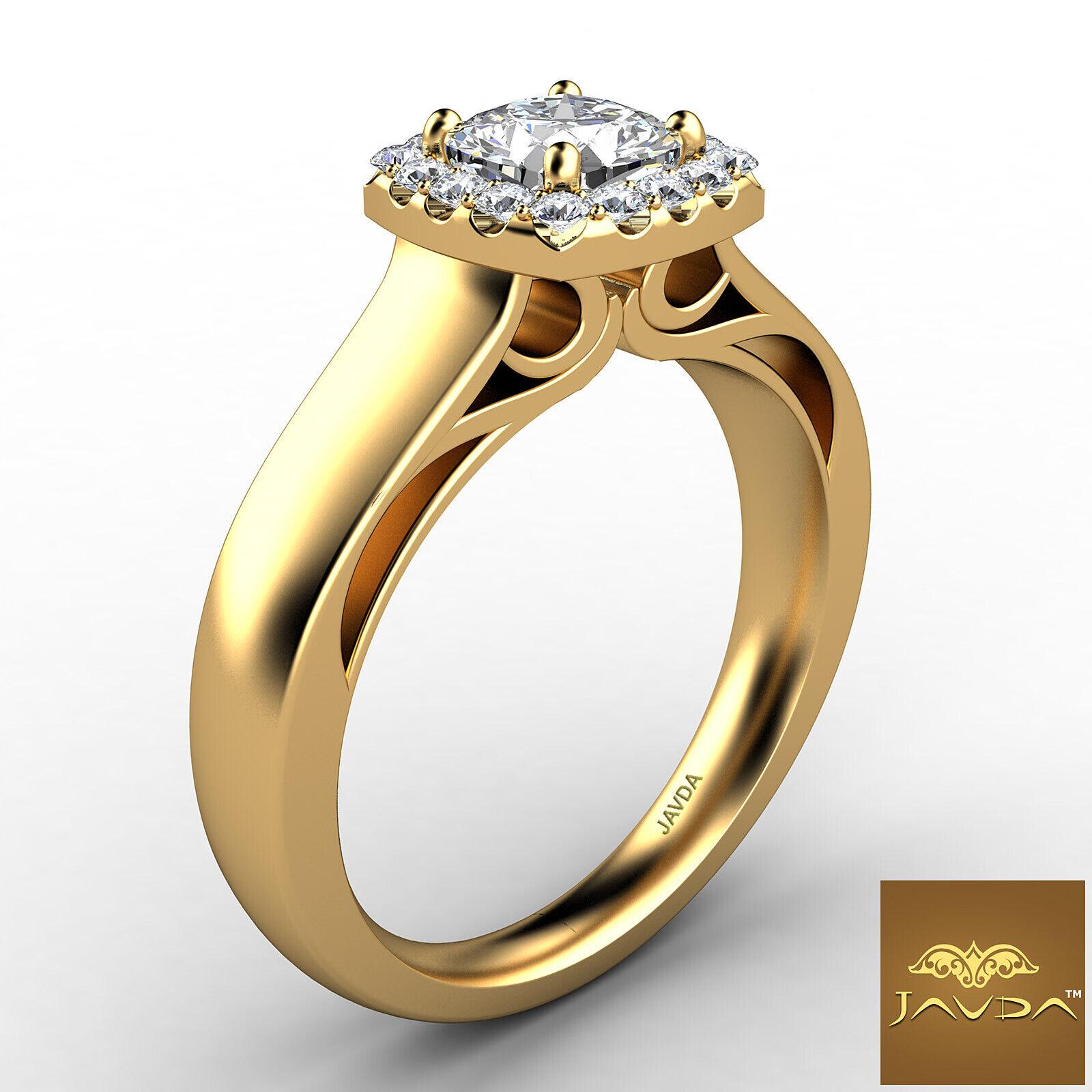 Filigree Shank U Cut Prong Cushion Diamond Engagement GIA H Color VS1 Ring 0.7Ct 6