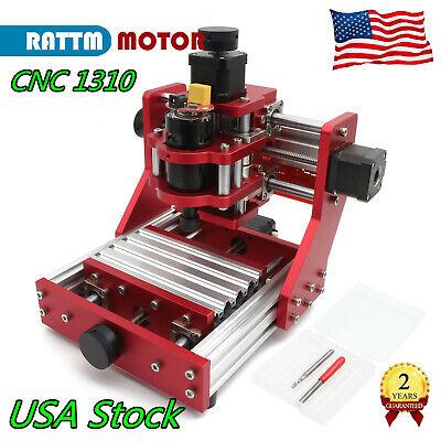 Us 1310 Mini Cnc Router Engraving Milling Metal Aluminum Copper Cutter Machine