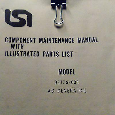 LSI Lear Siegler AC Generator 31176-001 Maintenance & Parts Manual