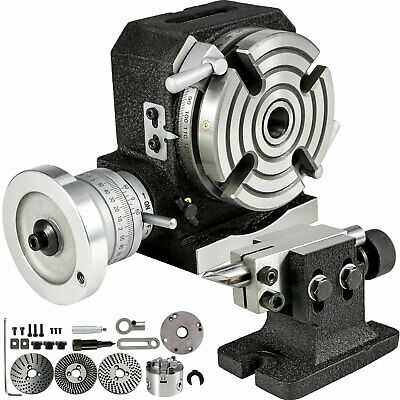 Rotary Table 4 4-slot With Tailstock Dividing Plates A 4 3 Jaw Lathe Chuck