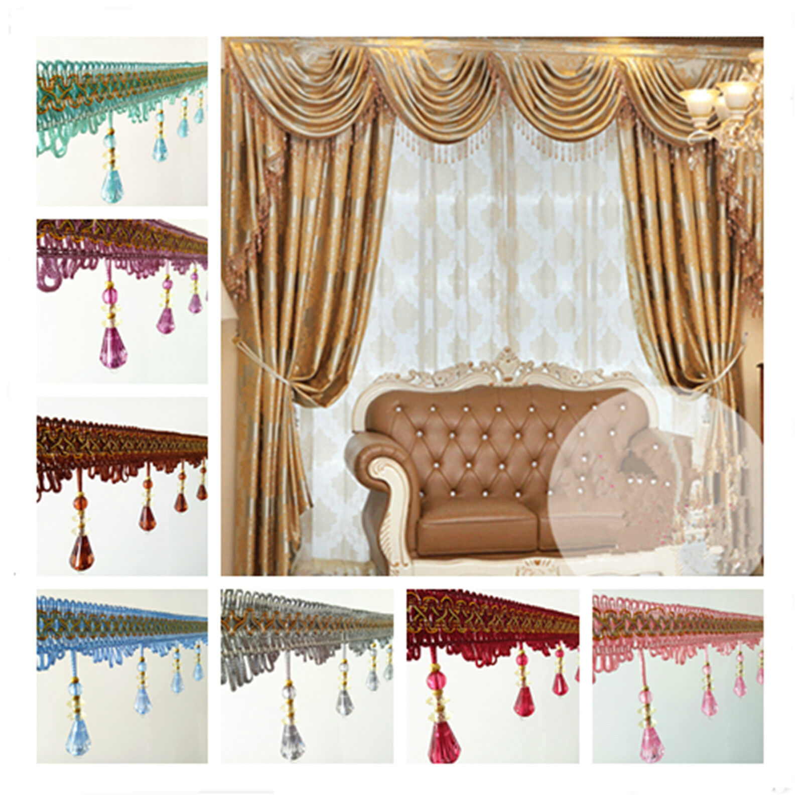 High Quality Beaded Accessory Curtain Fringe Lace Ribbon