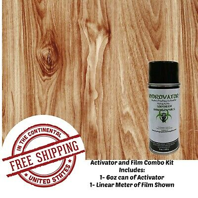 Hydrographic Water Transfer Hydro Dip 6oz Activator 1m Wood Grain D Film Kit