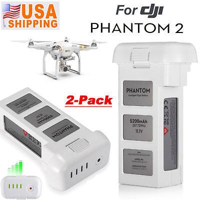 2 Pack 5200mAh 11.1V 3S Intelligent Lipo Battery For DJI Phantom 2 Vision + Plus