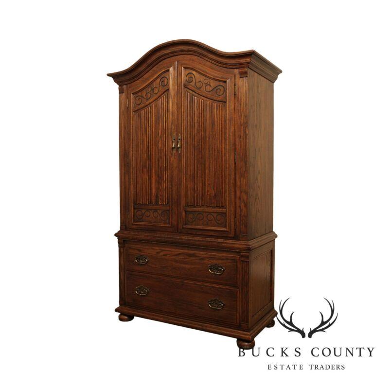 Ethan Allen Royal Charter Oak Bedroom Armoire Cabinet